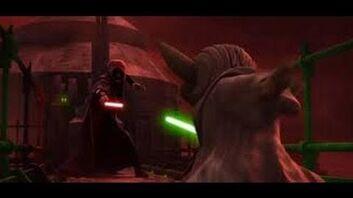Darth Sidious & Dooku vs Yoda & Anakin Skywalker The Clone Wars Season 6