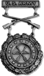 Excellence in Competition Rifleman Shot Badge (Silver) (Army)
