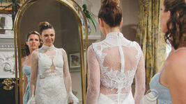 Chloe wedding dress mirror