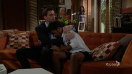 Cane comforts Charlie