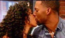 Jordan Hilary kissing