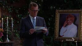 Paul reading Katherine's letter
