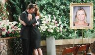Nick Victoria hug at Sage funeral