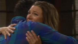 Chloe and kevin hug