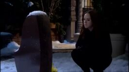 Mariah at Cassie's grave