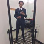 Ravi suit tie makeover mirror