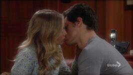Austin & Abby's first kiss