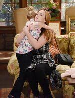 Mariah hugs Faith