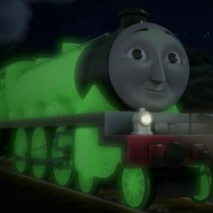 Henry with glowing green paint in the twentieth season