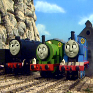 Neville with Thomas and Percy in the twelfth season