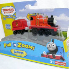 Pull and Zoom James in packaging