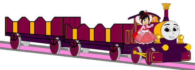 File:Lady with her Double Open-Topped Carriage & Vanellope beside her.png