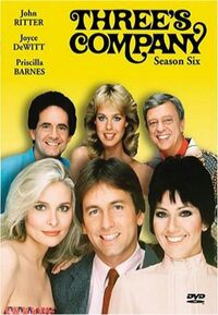 Three's Company Season 6 DVD cover