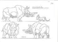 Original Concept Art - Beak Horned Rhino - 001