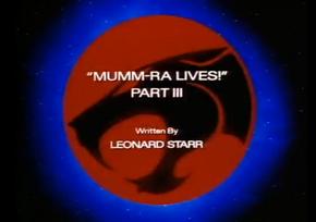 Mumm-Ra Lives - Part III - Title Card