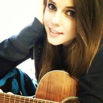 Tiffany jamming on guitar - February 2, 2014