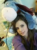 Tiffany with Eeyore plush - January 22, 2014