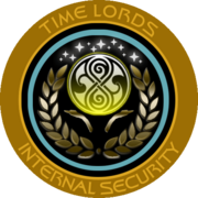 Timelords Security with Gallifreyan symbol