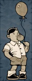 Boy Cardboard Character