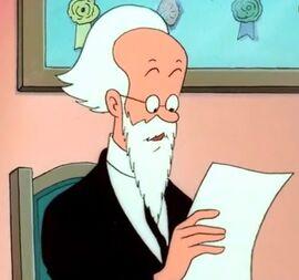 Professeur Alembick avec sa barbe blanche dans Tintin