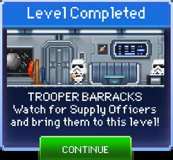 Message Trooper Barracks Complete