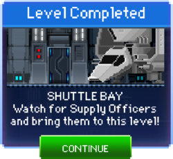Message Shuttle Bay Complete