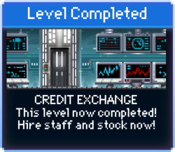 Message Credit Exchange Complete