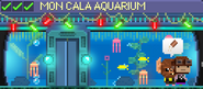 Decorated Mon Cala Aquarium