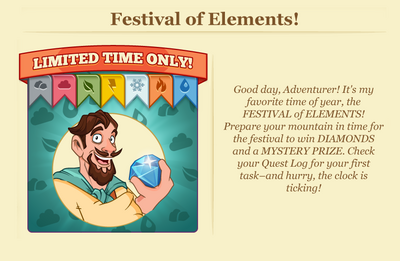 Festival of elements header