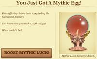 You just got a mythic egg model