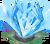 Decoration 2x2 valentine crystal bank blue tn@2x
