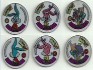 1994tiny mirror tazos