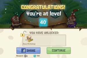 Congratulations you-re at level 40