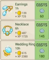RecipeMenu WeddingJewelryStore