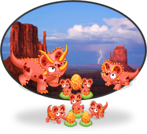 FireTriceratops Diorama2