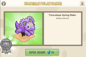 Playground 3 triceratops spring rider