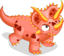 Fire Triceratops