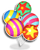 Goal parade balloons icon