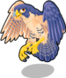 Peregrine falcon single