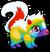 Cubby skunk rainbow single