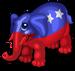 Patriotic elephant single