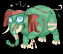 Zombie elephant static