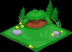 Fox cubby habitat