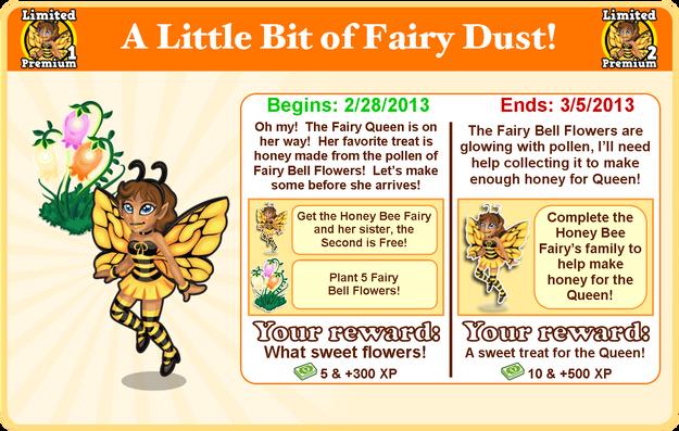 Honey bee fairy goal modal