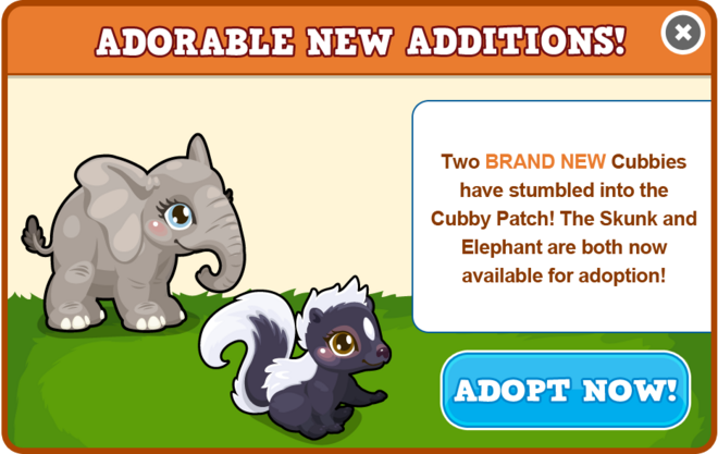 New cubbies modal