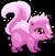 Cubby skunk pink single