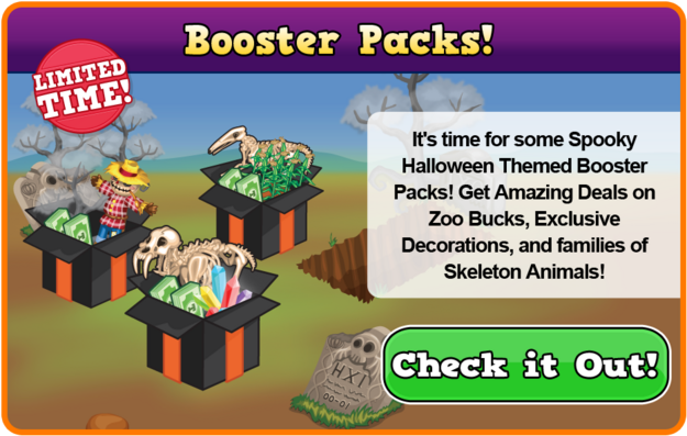 Skeleton booster packs modal