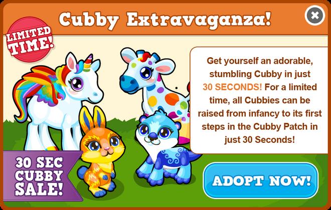 Cubbies 30 seconds modal