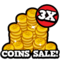 3x coin sale hud