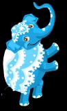 Blue elephant an